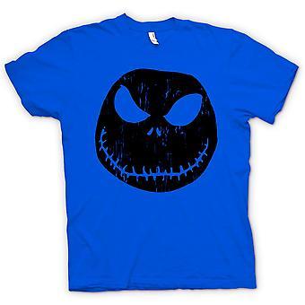 Womens T-shirt - Scary Halloween Pumpkin - Smiley Face