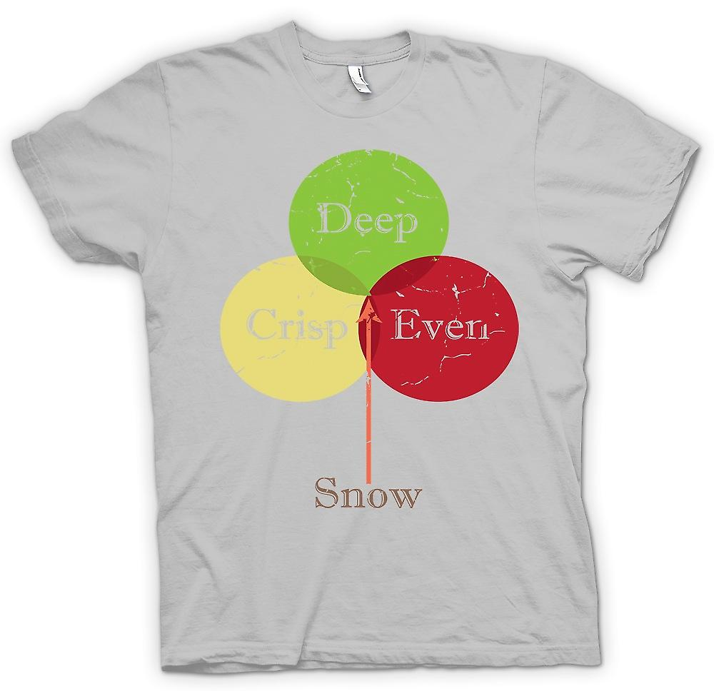 Mens T-shirt - Deep Crisp Even Snow - Funny