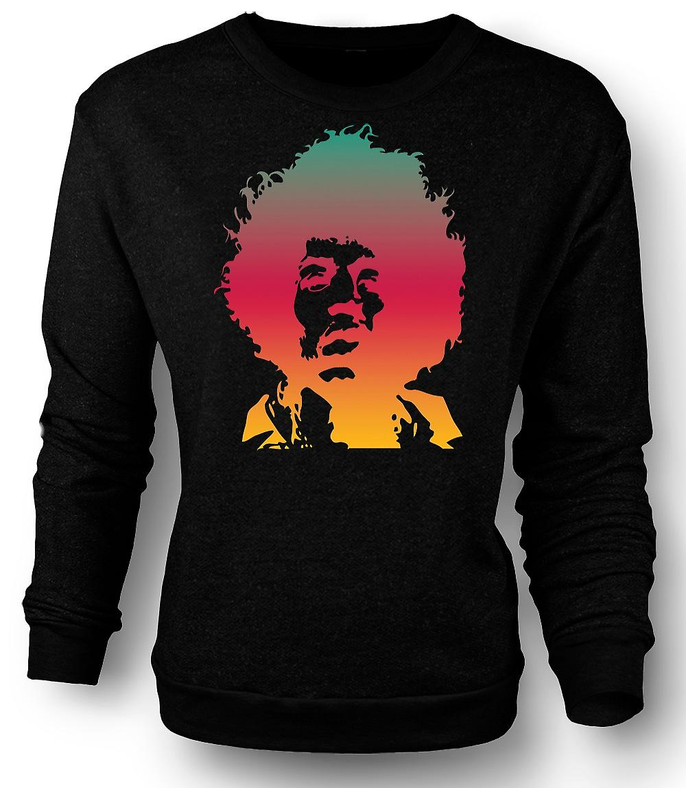 Mens Sweatshirt Jimi Hendrix Cool Portrait