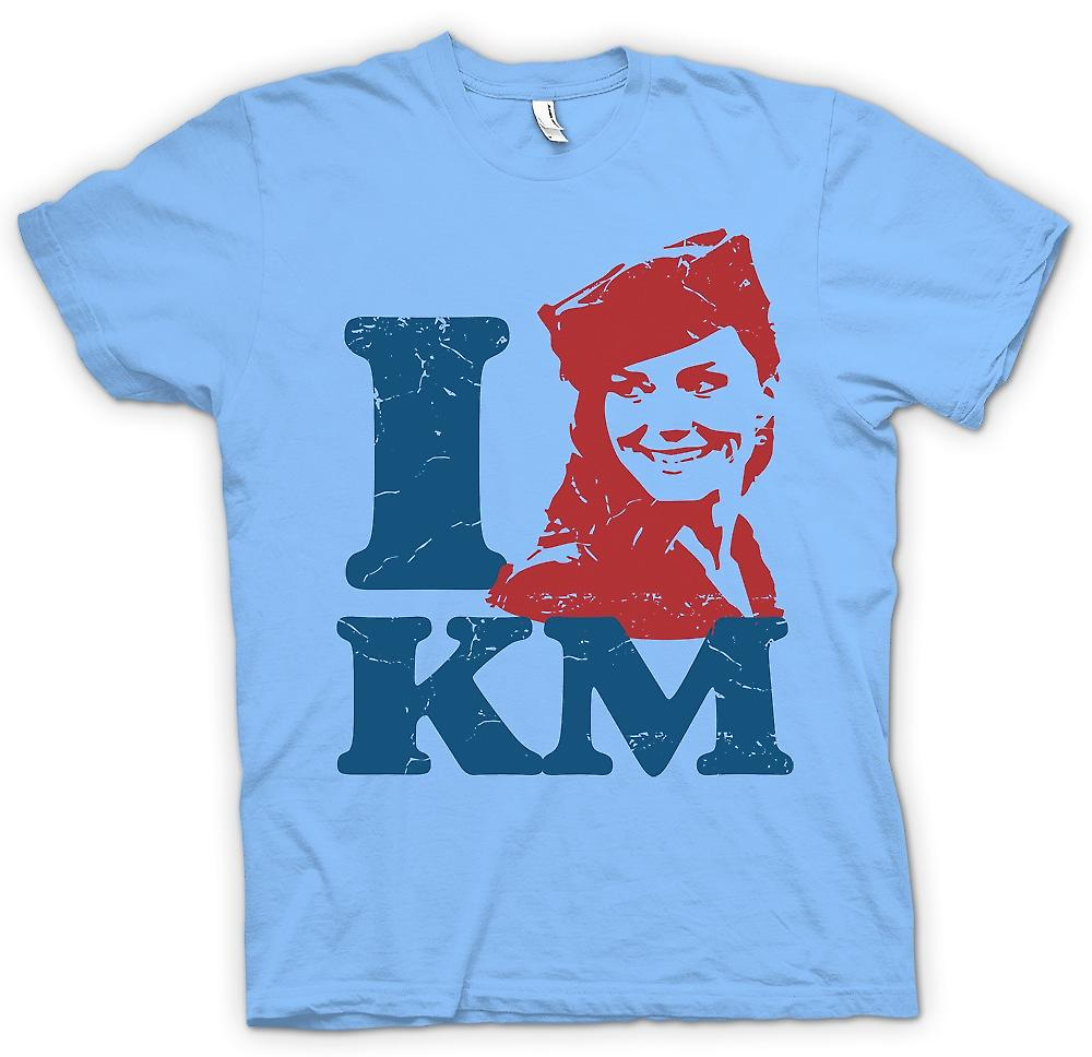 Mens T-shirt - I Love KM - Kate Middleton