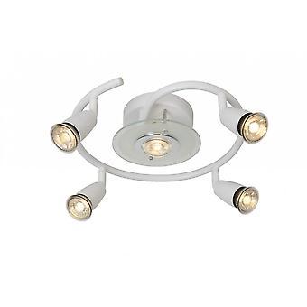 Lucide Bingo-moderno redondo Metal blanco techo LED luz del punto