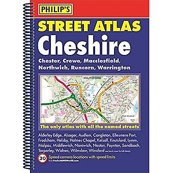Philip's Street Atlas Cheshire: Spiral Edition