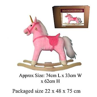 Pink Rocking Unicorn Toy Wth Sound