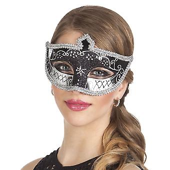 Oog masker Venetië felina black Fancy Dress accessoire