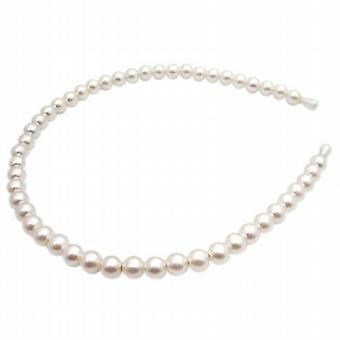 Bryllup hodebånd krem perler Hårtilbehør
