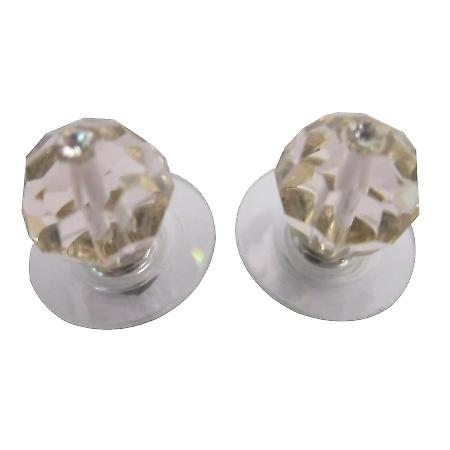 Silk Crystal Stud Earrings Inexpensive Earrings Swarovski Jewelry