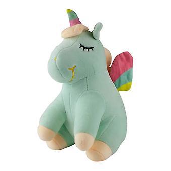 Sleeping Unicorn, Plush Toys/Stuffed Animals-Green