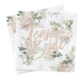 Floral Hen Party Napkins x16