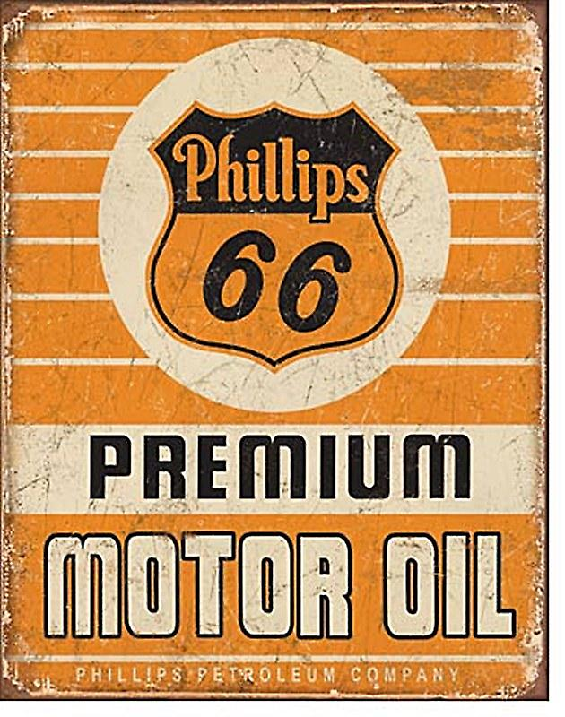 Phillips 66 Premium Motor Oil weathered metal wall sign   (de)
