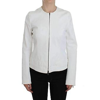 Plein Sud White Stretch Coat Jacket -- SIG3196613
