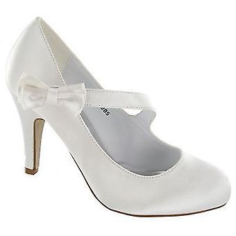 Dames Anne Michelle bruiloft Court Shoe - L2995