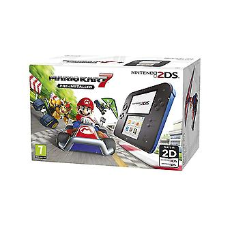 Nintendo 2DS Handheld Console Black/Blue with Pre-installed Mario Kart 7