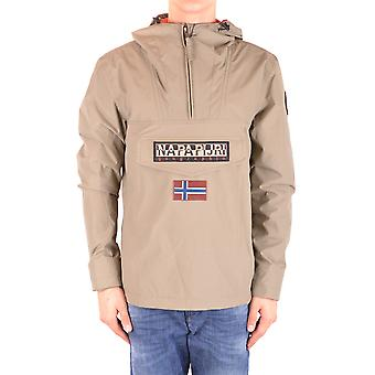 Napapijri Beige Nylon Outerwear Jacket
