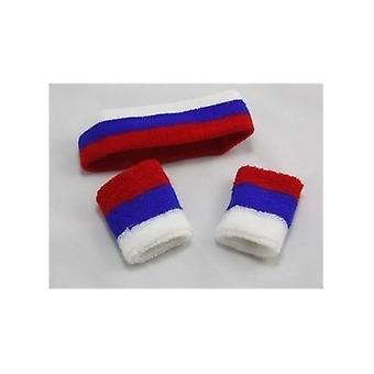 Union Jack Wear Red White And Blue Headband Set