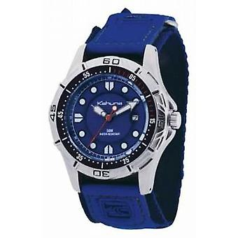 Kahuna Blue Strap & Dial Polished Metal Case K5V-0001G Watch