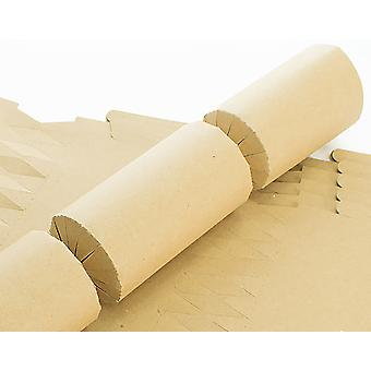 12 BUDGET Natural Brown Recycled Kraft Make & Fill Your Own Crackers