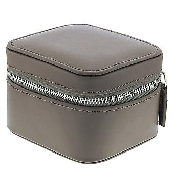 Mele Traveller Mink Bonded Leather Small Square Jewellery Case Ideal For travel 717M