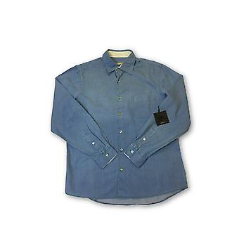 Agave Tailored Perfecto deni shirt in light blue