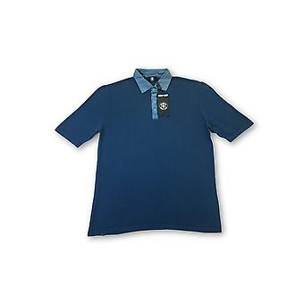 Strellson Swiss Cross short sleeved polo in teal blue