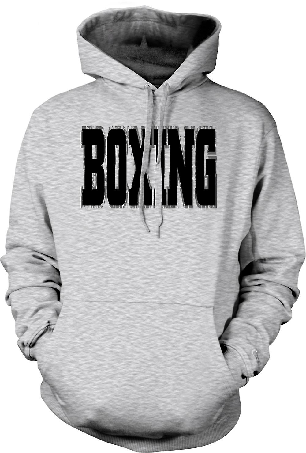 Mens Hoodie - Boxing - Martial Art - Slogan