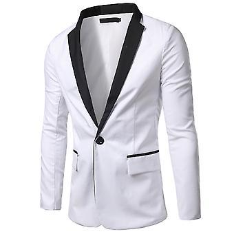 Allthemen Men's Suit Jacket One Buttons Colorblocked Imprimé Casual-Formal Slim Fit Suits Blazer