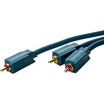 RCA Audio/phono Y cable [1x RCA plug (phono) - 2x RCA plug (phono)] 1 m Blue gold plated connectors clicktronic
