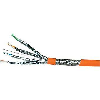 Network cable CAT 7a S/FTP 4 x 2 x 0.25 mm² Orange VOKA Kabelwerk 170203-50 Sold per metre
