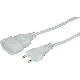 Current Extension cable [ Europlug - Euro connector] White 5 m Hama 00108809