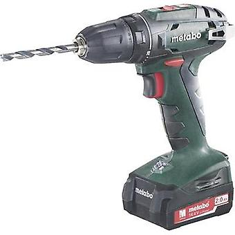 Metabo BS 14.4 Cordless drill 14.4 V 2 Ah Li-ion + rechargeables, + case
