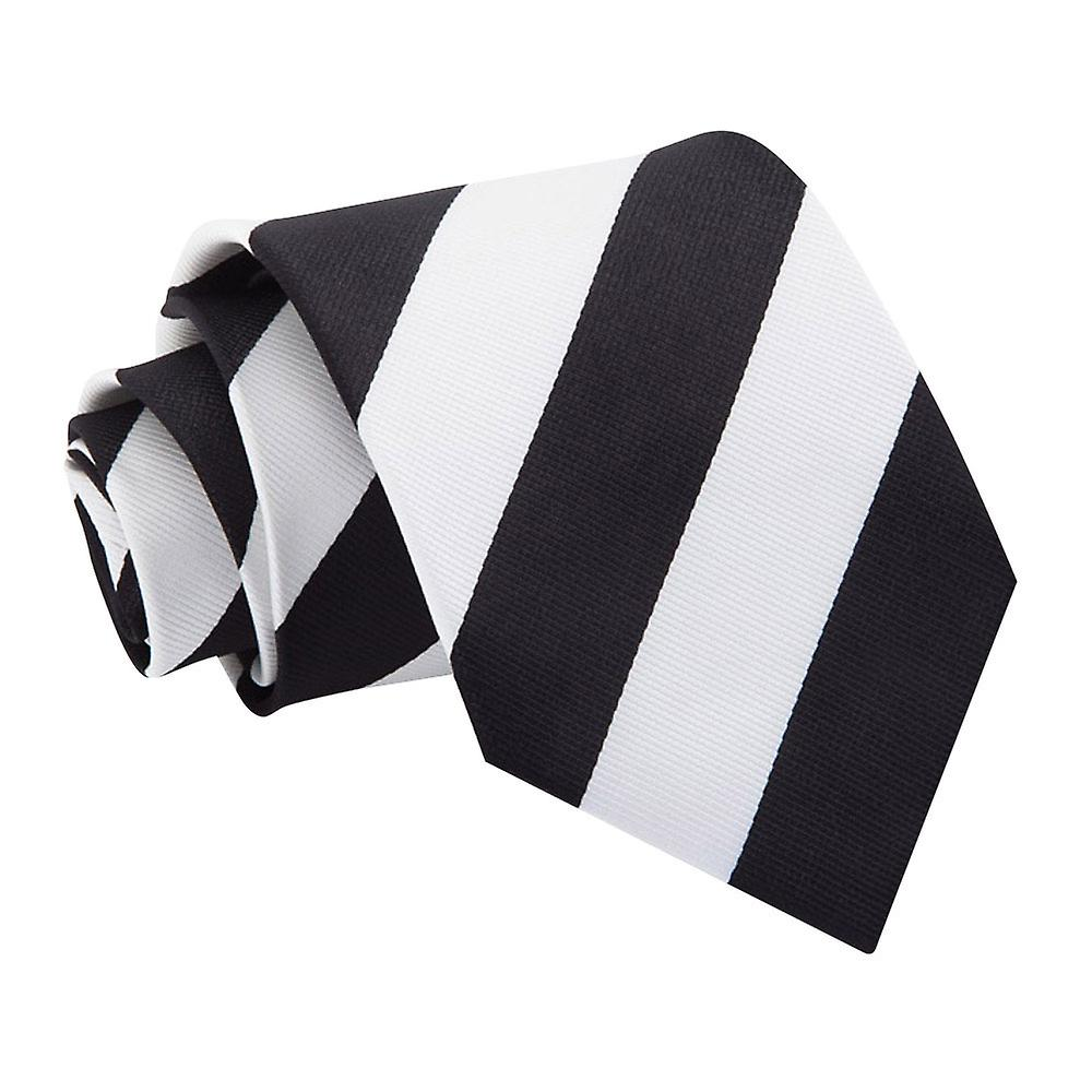 Striped Black & White Tie