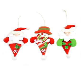 Árbol de Navidad decoraciones de suave peluche Navidad decoraciones 3 6120 colgantes