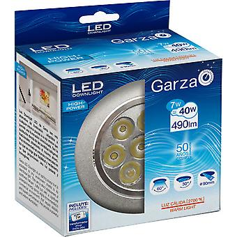 Garza Recessed Led Hp 27K 7W 490Lm Aluminum 60th
