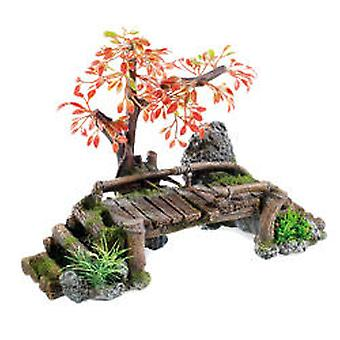 Classic For Pets Wood Bridge / Plant 320mm (Fish , Decoration , Ornaments)