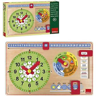 Goula Clock Calendar Learning Catalan (Toys , Educative And Creative , Mathematics)