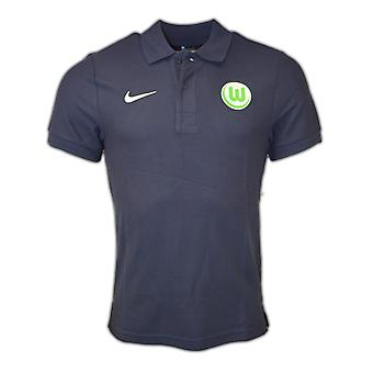 2016-2017 VFL Wolfsburg Nike Authentic Polo-Shirt (Navy)
