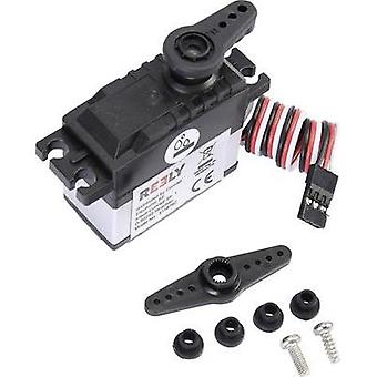 Reely Standard servo RS-606 WP MG Analogue servo Gear box material: Plastic Connector system: JR