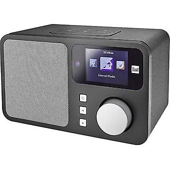 Internet Table top radio Dual IR 4 AUX, Internet radio DLNA-compatible Black