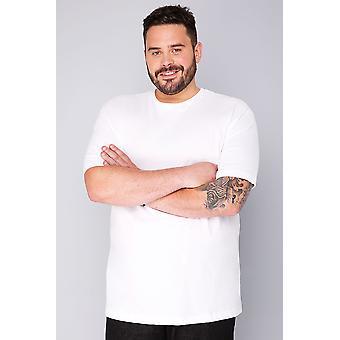 BadRhino White Basic Plain Crew Neck T-Shirt - TALL