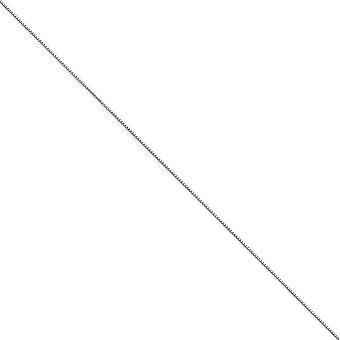 14 k wit goud .90mm vak Chain ketting - springslot - lengte: 14 tot en met 30