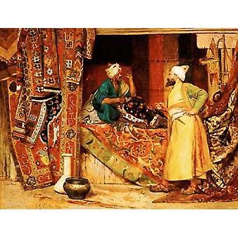 Carpet Seller Poster Print by  Jean Georges Vibert