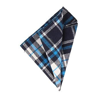 Andrews & co. handkerchief Hanky Navy Blue Plaid light blue white