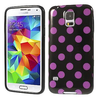 Protective case for mobile Samsung Galaxy S5 / S5 neo black / pink