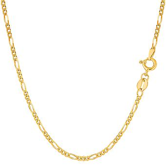 14k Yellow Gold Classic Figaro Chain Necklace, 1.9mm