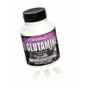 Health Aid L-Glutamine 500mg ,  60 Tablets