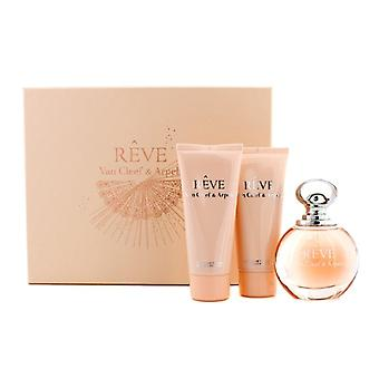 Van Cleef & Arpels Reve Schatulle: Eau De Parfum Spray 100ml/3,3 oz + Body-Lotion 100 ml/3,3 oz + Dusche Gel 100 ml/3,3 oz 3pcs