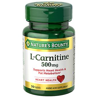 Nature's Bounty L-Carnitine 500 mg 30 Coated Tablets (Dieet , Supplementen)