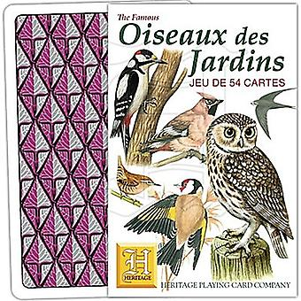 Oiseaux des Jardins (French Language) set of 52 playing cards (+ jokers)    (hpc)