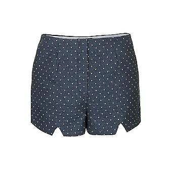 Topshop High Waisted Polka Dot Notch Short