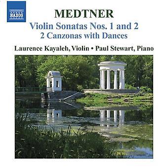 N. Medtner - Medtner: Violin Sonaten Nr. 1 & 2; 2 Kanzonen mit Tänzen [CD] USA importieren