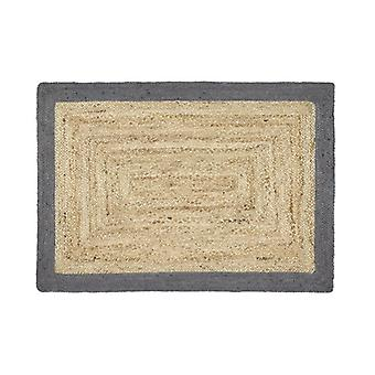 Origins Jute Jute Border Grey  Rectangle Rugs Plain/Nearly Plain Rugs
